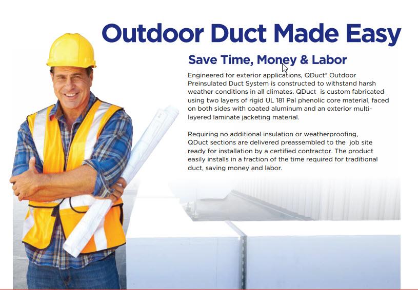 Q duct 10 year warranty