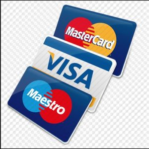 Visa, master card, discovery all major brand credit cards accepted